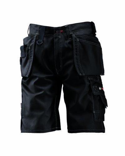 Bosch WHSO 09 - Pantaloni professionali con tasche esterne, vita 92 cm, nero