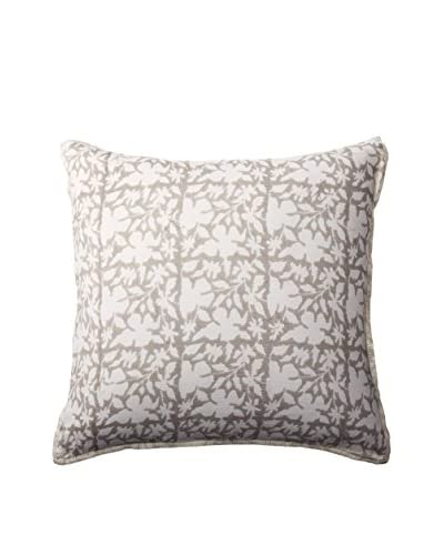 Shades of India Shadow Euro Sham, White/Pearl