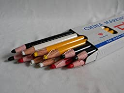 12~marker Marking Pencil for Fabric,metal,glass.4 Color