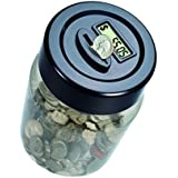 Digital Coin Counting Money Jar Game, Black