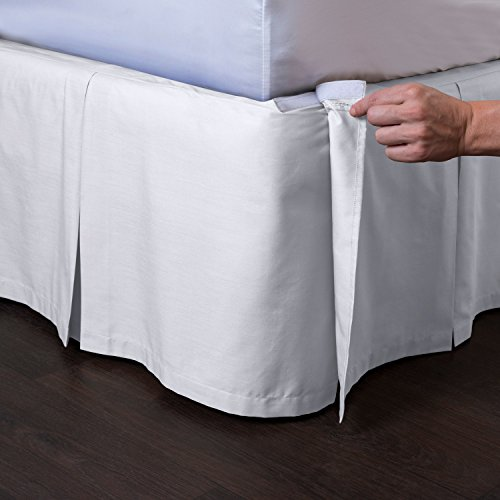 "Ashton Detachable Tailored Bed Skirt, 18"" Drop front-1009894"