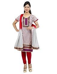 Utsav Fashion Women's Grey Cotton Readymade Churidar Kameez-Medium