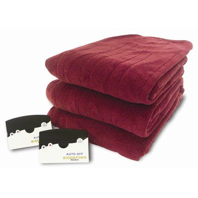 Knit Microplush Warming Blanket With Digital Controller - Queen Size, Brick