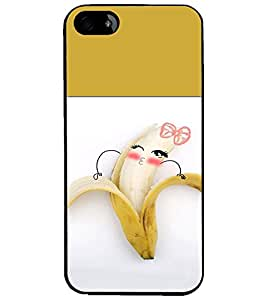 PrintDhaba Funny Banana D-4218 Back Case Cover for APPLE IPHONE 5 (Multi-Coloured)
