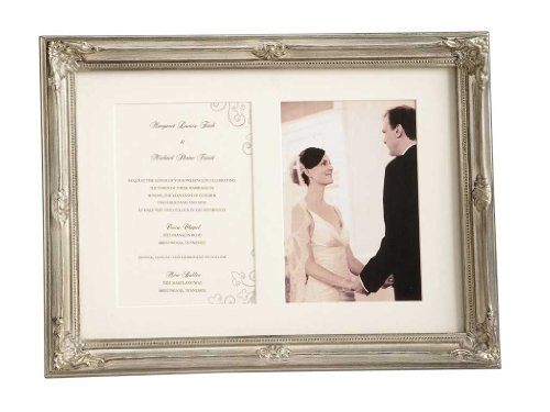 Set of 2 Elegant Wedding Photo and Invitation