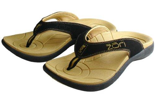Neat Zori Sandal,Tan/Black,Size 11 front-1062847
