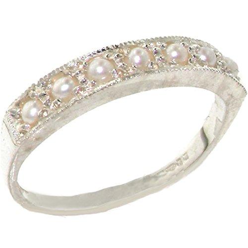 英国製 925 シルバー 淡水真珠 レディース リング 指輪 サイズ 8 各種サイズあり
