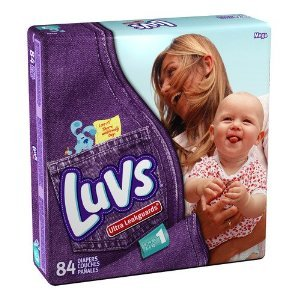 Luvs Mega Pack Size 1 84-Count (Pack of 2)