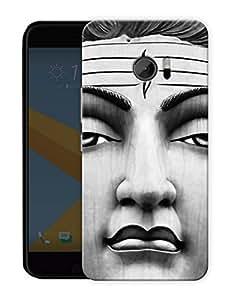 """Humor Gang Shiva Portrait - - Indian Hindu God Printed Designer Mobile Back Cover For """"HTC 10"""" (3D, Matte, Premium Quality Snap On Case)"""