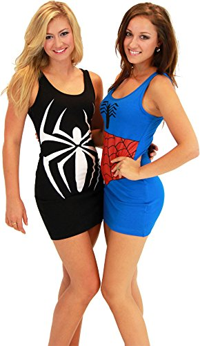 Spider-Man Blue Juniors Costume Tunic Tank Dress