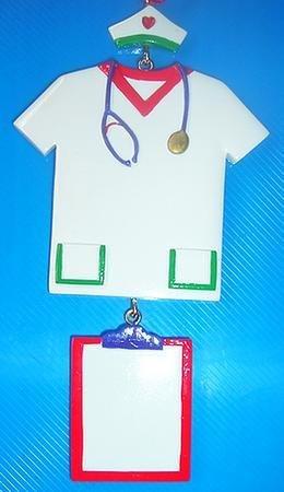 Nurse Nursing Attire Personalized Christmas Ornament