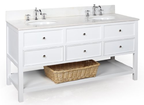 Black Friday Best Buy New Yorker 60 Inch Bathroom Vanity White White Includes A White Solid