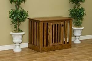 Amazoncom amish wood dog crate entertainment center for Amish wooden dog crates