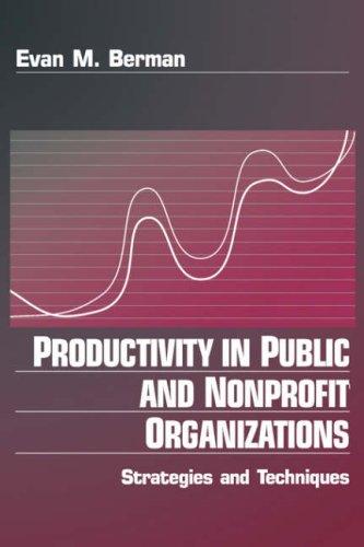Productivity in Public and Non Profit Organizations:...