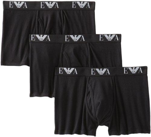 Emporio Armani Men's 3-Pack Trunk, Black, Medium