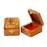 Olive Wood Box with the Jerusalem Cross