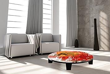 "TAF DECOR ""Move on 60 pt 1"" Art Coffee Table, 35"" X 35"" X 7.5"", Multicolored"