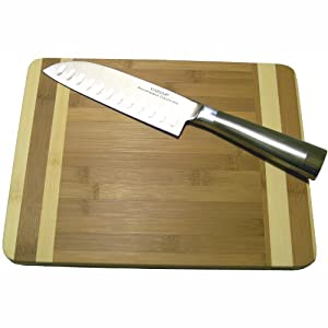 Oneida 2 piece cutting board and 7 inch for Kitchen knife set of 7pcs with cutting board