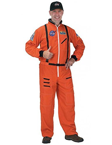 Nidicus USA Men's Spaceman Astronaut Suit Adult Costume With Jumpsuit & Hat