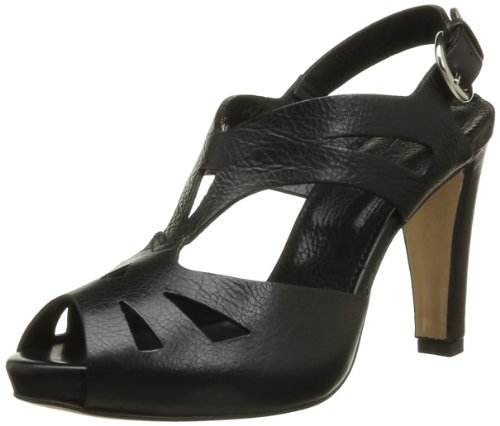 Lena Milos Women's T2963 Fashion Sandals Black Noir (Pelle Glace Nero) 38.5