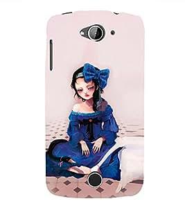 99Sublimation Sad Girl in Blue Dress 3D Hard Polycarbonate Designer Back Case Cover for Acer Liquid Z530 :: Acer Liquid Z530S