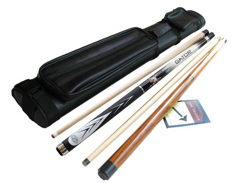Lowest Prices! 50%off White Spider Maple Pool Cue Stick (19oz) +Gino Jump and Break Cue+j&j Black 2x...