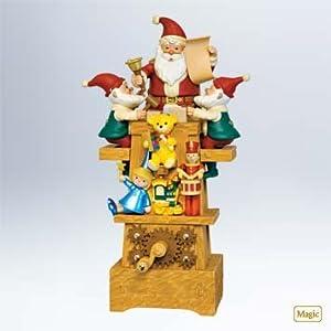 #!Cheap 2011 Hallmark SANTA'S JOLLY WORKSHOP Christmas Table Decoration-- Very RARE!!!