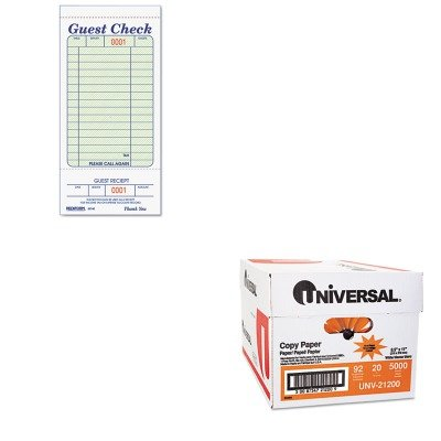 KITRED5F740UNV21200 - Value Kit - Rediform Guest Check Book (RED5F740) and Universal Copy Paper (UNV21200) kitswi3747308unv10200 value kit swingline selfseal clear laminating sheets swi3747308 and universal small binder clips unv10200