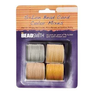 4 Spools Super-lon #18 Cord Ideal for Stringing Beading Crochet and Micro-macram Jewelry Compatible with Kumihimo Projects S-lon Honny Butter
