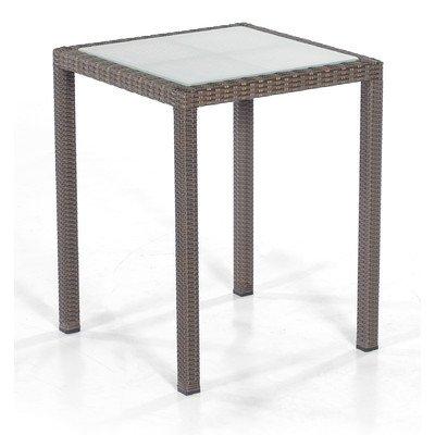 """Tisch """"Vera Cruz"""" quadratisch mit Glasplatte Farbe (Geflecht): Cappuccino, Größe: 75 cm H x 60 cm W x 60 cm T jetzt bestellen"""