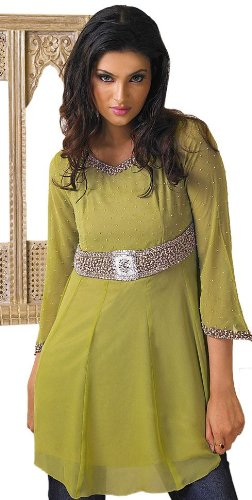 ladies / womens sequins work tunics / tops / kurta kurti