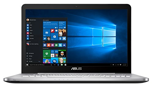 "Asus N752VX-GC234T Portatile, Display 17.3"", Processore Intel Core i7-6700HQ, RAM 16 GB, SSD 512 GB e HDD 1 TB, Scheda Video nVidia GeForce GTX 950 4 GB, Argento"