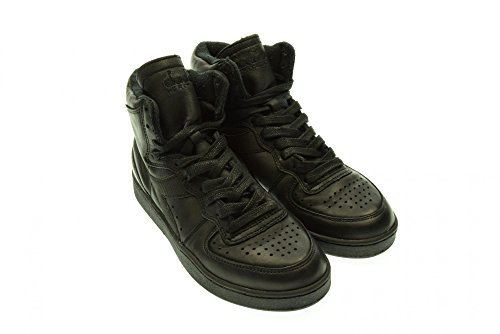 Diadora Heritage MI BASKET USED,uomo, pelle, nero, sneaker (41)