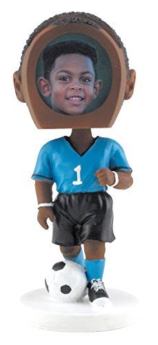 Boy Soccer Player Bobble Head - Dark Skin Tone