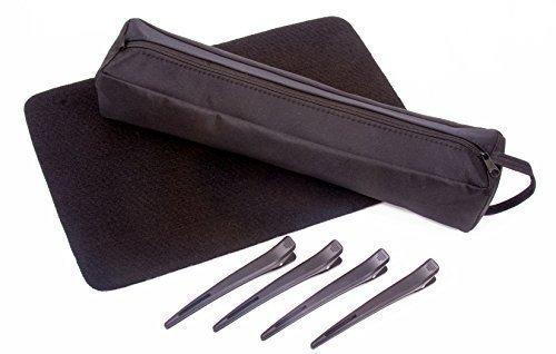 Fers à lisser pour cheveux résistant à la chaleur sac de stockage avec tapis résistant à la chaleur et clips pour GHD, Cloud Nine et plus