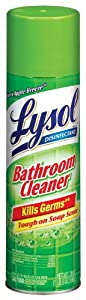 Lysol Bathroom Cleaner Complete Clean Aerosol, Sunshine Fresh, 24 Ounce (Pack of 12)