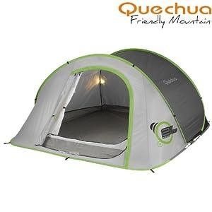 quechua iii illumin wurfzelt mit beleuchtung sport freizeit. Black Bedroom Furniture Sets. Home Design Ideas