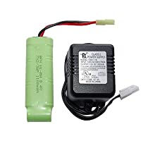 MetalTac® 8.4v Charger and 1100 mAh Battery 8.4v Flat Pack for Airsoft Guns