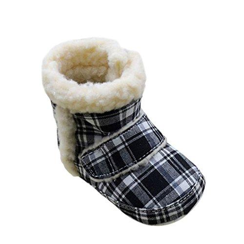 Weixinbuy Unisex Infant Baby Fleece Soft Sole Warm Velcro Snow Boots L front-878957