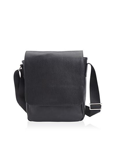 Royce Men's Luxury iPad Messenger Bag, Black