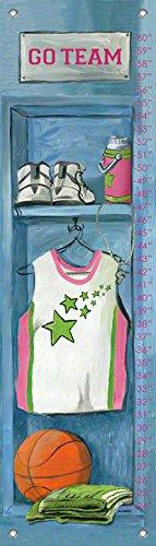 Oopsy Daisy Girl's Basketball Locker by Jones Segarra Growth Charts, 12 by 42-Inch