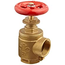 "Moon 171-1561 Brass Angle Hose Valve, 1-1/2"" Female NPT"