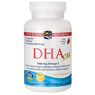 DHA Xtra, Strawberry Flavour, 60 Softgels