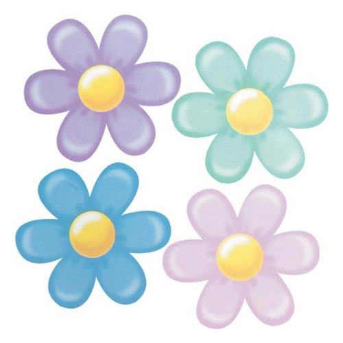 Pkgd Retro Flower Cutouts   (4/Pkg)