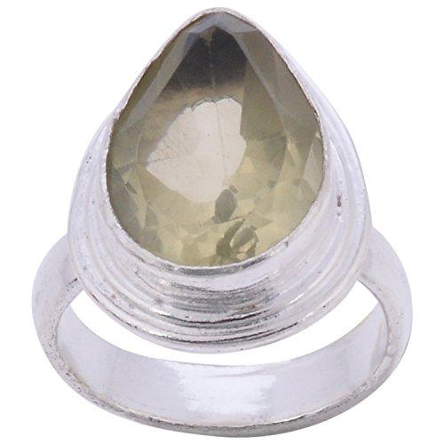 Lemon 925Silvercollection Silver Plated Lemon Topaz Stone Designer Ring Size 7.5 (Multicolor)