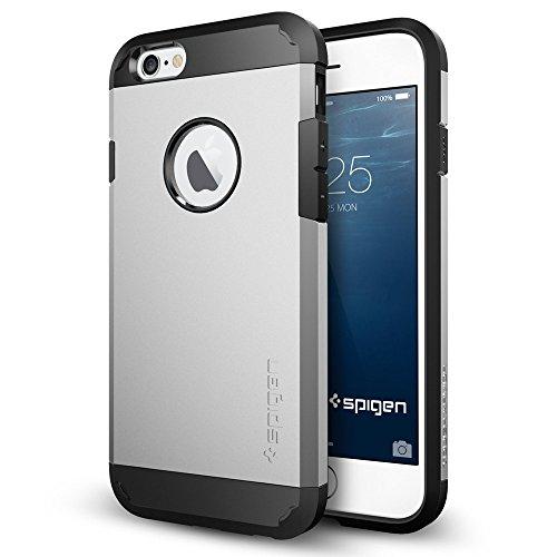 iPhone 6 ケース, Spigen®  [エアクッションテクノロジー] Apple iPhone 4.7 (2014) タフ・アーマー The New iPhone アイフォン6 (国内正規品) (サテン・シルバー SGP10971)