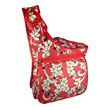 Tropical Flower Crossbody Shoulder Sling Bodypack Bag (SW-26026-Red)