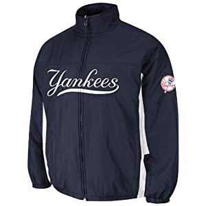 New York Yankees Navy Authentic Triple Climate 3-In-1 On-Field Jacket by Majestic by Majestic