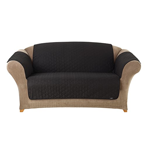 sure-fit-cotton-duck-loveseat-pet-throw-black-by-surefit-inc
