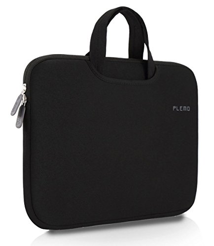 Plemo 15-15.6 Inch Laptop Sleeve Case Waterproof Neoprene Bag for MacBook Pro / 15.6-Inch Laptops / Notebook, Black